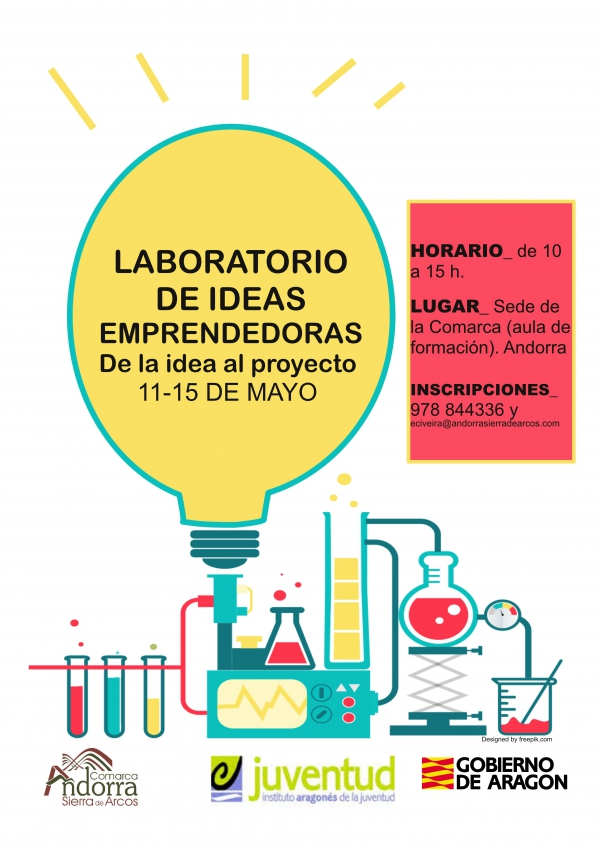 cartel laboratorio ideas emprendedoras